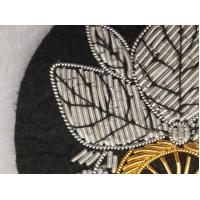 China Gold Silver Handcraft Wire Embroidered Badges Sew On Bullion Patches Applique on sale