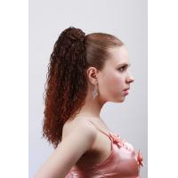 Wholesale Dark Brown Curly Synthetic Pony Tail Wigs and Extensions for Women from china suppliers