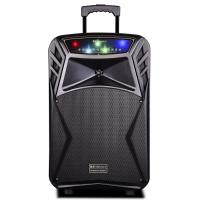Buy cheap 45 Watt Outdoor Rechargeable Battery Trolley Speaker System With Led Lights from wholesalers