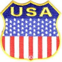 Wholesale USA American Flag Shield Embroidered Iron On Patch from china suppliers