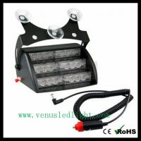 Wholesale 1x 18 Amber White LED 3x Mode Interior Emergency Deck Dash Flash Strobe Lights from china suppliers