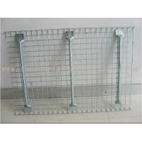 Quality Flared Steel Wire Mesh Decks Industrial Pallet Racks Heavy Duty Capacity 2000 LBS for sale