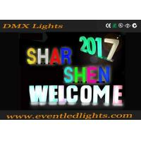 Wholesale Vintage LED Pillar Lights 16 Colors Changing Rechargeable Acrylic Letter Sign from china suppliers