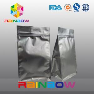 Wholesale Matt black 8 side seal coffee packaging bottom gusset bags ziplock from china suppliers