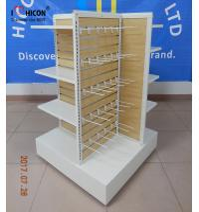 Wholesale Wooden Clothing Store Fixtures Metal 4-Way Garment Shop Display Racks Floor Standing from china suppliers