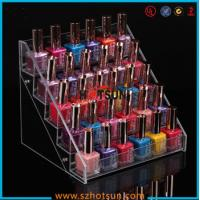 Wholesale Clear Acrylic Nail Polish Display Stand, 5 tier nail polish display rack from china suppliers
