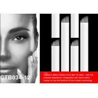 Buy cheap 0.25mm Flexible Blade Semi Permanent Makeup Microblading Tattoo Needles With EO Gas Disinfection from wholesalers