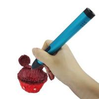 Wholesale Speed Adjustable 3D Drawing Pen , Kid Dewang 3D Pen X4 Fancy Design Gold And Blue from china suppliers