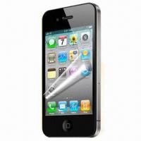 Wholesale 0.05mm ultra Thin PET Screen Protectpr for iPhone 4/4S, Removable, Washable and Reusable from china suppliers