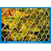 Wholesale Dark Green 40*40mm Galvanized Chain Link Fence For Forest Protecting And Building Site from china suppliers