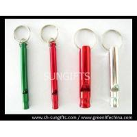 Wholesale Aluminum colorful stick shape whistles with key ring best promotional item from china suppliers