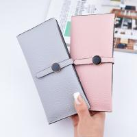 Wholesale Female Foldable Leather Clutch Wallet Large Capacity For Money Coin Card Holders from china suppliers