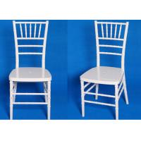 Wholesale High Density Foam White Tiffany Chair Stacking For Wedding / Banquet from china suppliers