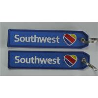Buy cheap Southwest Airlines Logo Fabric Embroidery Keychain Motorcycle Lock Keychain Luggage Tag Keytag from wholesalers