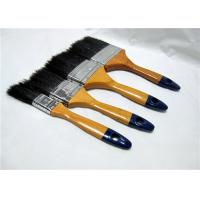 Wholesale Black Bristle Flat Sash Brush , Wall Painting Brush With Yellow Lacquered Wooden Handle from china suppliers