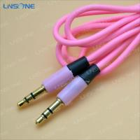 Wholesale Gold plated Pink color 3ft 3.5mm plug stero cable from china suppliers