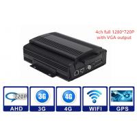 Wholesale 2TB HDD 3G / 4G WIFI GPS G - sensor Car Mobile DVR 4CH AHD 720P Vehicle MDVR from china suppliers