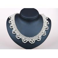 Wholesale Handcrafted Designer Bridesmaids Faux Pearl Statement Necklace Costume Jewelry from china suppliers