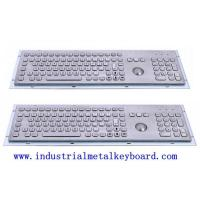 Quality Black / Silver Industrial Keyboard With Trackball , Front Panel 478 x 135mm for sale