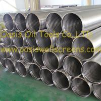Wholesale 316L stainless steel water well screen, wire wrapped well screen from china suppliers