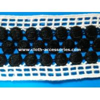 Wholesale Embroidery Crochet Water Soluble Lace Trim Black Mixed White Double Side Straight from china suppliers