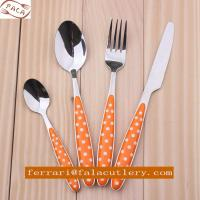 Wholesale Fashionable Design Polka Dot Colorful Plastic Handle Cutlery from china suppliers