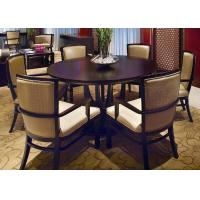 Wholesale 120 * 120 Modern Round Tables , Finish Wooden Mahogany Dining Room Table And Chairs from china suppliers