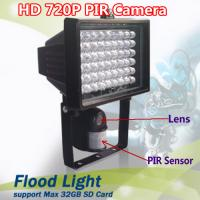 Wholesale Flood Light Security PIR DVR Camera IR LED Night Vision CCTV Surveillance DVR W/ 54pcs LED from china suppliers