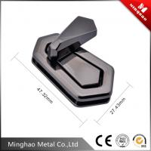 Quality Handbag fittings twist lock,gun metal bag turn lock 47.32*27.43mm for sale