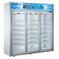 Wholesale Vertical Supermarket Display Refrigerator , Three Glass Door Commercial Fridge Freezer from china suppliers
