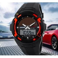 Wholesale Wholesale Men Multifunction Solar Power Dual time Sport Wrist Watch 5 ATM PU Strap Watches 1056 from china suppliers