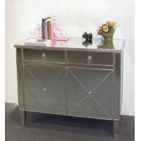 Quality Golden floor mirrored cabinet for sale