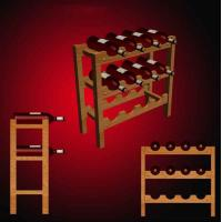 Buy cheap Wooden Display Rack for wine from wholesalers