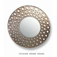Wholesale Custom Interior Decorative Framed Wall Mirrors / Round Art Glass Mirror 13mm from china suppliers
