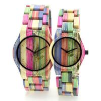 Wholesale Colorful Handmade Bamboo Wrist Watch For Lovers , Bewell Bamboo Watch from china suppliers