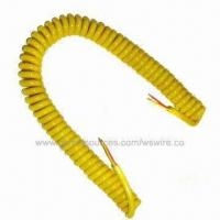 Wholesale Coiled Cords with Extension Retractable Coiled Electrical Power Cable from china suppliers