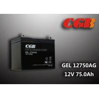 Wholesale GEL12750AG EPS UPS Lead Acid Battery , Valve Regulated 12v deep cycle battery 75AH from china suppliers