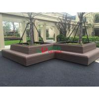 Buy cheap Wood Plastic Clow Maintenance Decking With Groove Surface , Waterproof Plastic Timber Decking from wholesalers