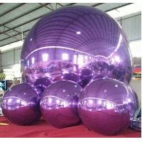 Wholesale 1m and 3m Purple Inflatable Mirror  Ball /Advertising Ball For Decoration And Christmas Celebration from china suppliers