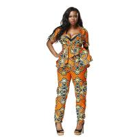 Wholesale Mosaic Dashiki African Print Jumpsuit Styles 100 Percent Cotton Customized Size from china suppliers