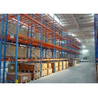 Quality Multi Level Metal Warehouse Shelving , Cold Rolled Steel Storage Rack Systems for sale