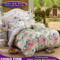 Wholesale CKMFM011-CKMFM015 Flower Design Reactive Printed Queen King Size Polyester Bedding Sets from china suppliers