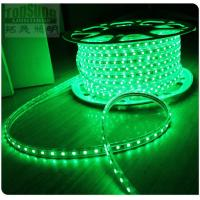 Buy cheap New arrival  220V AC LED strip flexible led ribbon 5050 smd green 60LED/m strip from wholesalers