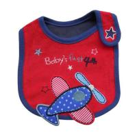 Wholesale Red Plane Custom Baby Bibs Baby Dribble Bibs , 100% Cotton Toweling Material from china suppliers