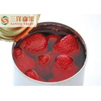 Quality Fresh Canned Fruit Strawberry / Canned Strawberry in syrup 850gX12tin for sale