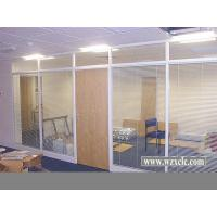 Wholesale Famed Aluminium Modular Office Partitions With Electric Blinds , Glass Panel from china suppliers