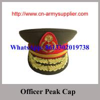 Wholesale Army Police Officer Wool Uniform Handmade Embroidery Peak Cap from china suppliers