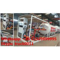 Wholesale bottom price 10,000Liters skid lpg gas station for filling taxi, factory sale 10m3 skid lpg tank witjh lpg dispenser from china suppliers
