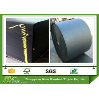Wholesale 350gsm Mixep Pulp Black Paper board for shopping hand bag in recycled material from china suppliers