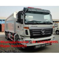 Wholesale FOTON AUMAN 6*4 LHD 16m3 garbage compactor truck, factory sale cheapest price FOTON 16m3 compacted garbage truck from china suppliers